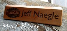 Idahoan desk wedges Laser Engraved with amazing detail at Mad River Laser