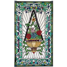Found it at Wayfair - Le Fenetre des Fleurs Stained Glass Window
