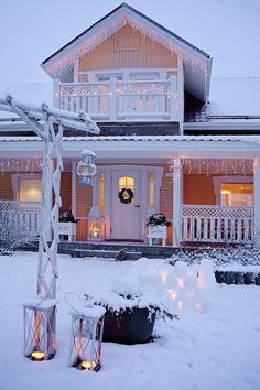 Зима и дома: 40 образов для вдохновения - InMyRoom.ru
