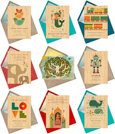 Petit Collage line by Paperless Post. Baby Announcements and Shower Invitations.