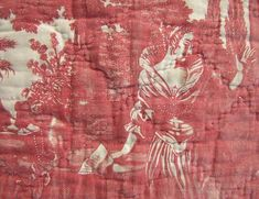 Textile Trunk Toile c 4 Trouvais Provence Interior, Tricia Guild, Italian Garden, Vogue Living, Grain Sack, French Decor, Shades Of Red, Wine Country, French Vintage