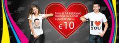 Rendi unico il tuo regalo di San Valentino. Fino al 14 Febbraio da Santorografica Stampa su t-shirt a partire da €10  http://www.santorografica.com/stampa-digitale.php
