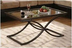 Glass and Metal Coffee Table Designs