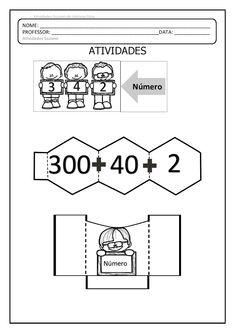 PDF AQUI PROFESSOR AQUI É A MONTAGEM INICIAL, LEMBRANDO QUE ESTA ATIVIDADE É APENAS PARA COMPLEMENTAR A EXPLICAÇÃO SOBRE DECOMP... First Grade Math, Grade 1, Place Values, Multiplication, Math Games, Teaching Math, Homeschool, Interactive Books, Students