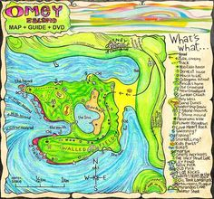 Colourful quirky map of Omey Island created by Irish Artist Sean Corcoran 2009 Derelict House, Pictorial Maps, Island Map, Old Maps, Us Map, Cartography, Ireland Travel, Business Brochure, Map Art