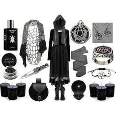 The Witching Hour by maggiehemlock on Polyvore featuring Trasparenze, Preen, DailyLook, Wendy Nichol, H&M, Stila, TOKYOMILK and Mineral