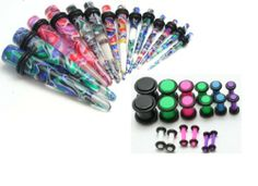 36pc Ear Stretching Kit Color Neon Plugs and Color Tapers 00g 0g 2g 4g 6g 8g 10g 12g 14g Gauges Plus Instructions by Zaya Body Jewelry, http://www.amazon.com/dp/B005TIX34S/ref=cm_sw_r_pi_dp_bxUzrb0KKS3QN