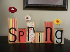 Spring and Easter decoration made of Wood by FayesAttic11 on Etsy, $20.00