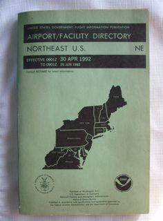 Vintage 1992 Obsolete Aviation Airport/Facility Directory NE US NOAA by RennerLaDifference on Etsy