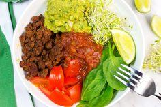 Healthy Low Carb Taco Bowls |Homemade Ingredients | Ground Beef Taco Bowl | Easy guacamole recipe | Gluten Free Recipe | Paleo Recipe | Whole 30 | Keto