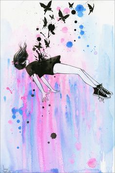 Lora Zombie - Out of Gravity - Prints available at EyesOnWalls.com #lorazombie #art #eyesonwalls