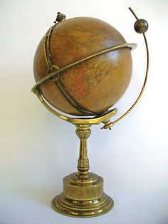 Antique globe with clock