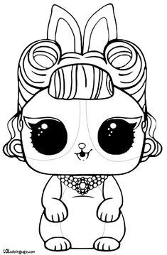 LOL Surprise Pets Coloring Pages Hop Hop | kolorowanki