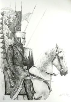 William Marshal leading the army at the 1217 Battle of Lincoln Medieval Knight, Medieval Armor, Medieval Fantasy, English Knights, Norman Knight, High Middle Ages, Knight Art, Chivalry, Knights Templar