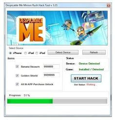 Online Despicable Me Minion Rush Hack for iOS, Android. Official tool Despicable Me Minion Rush Hack Online working also on Windows and Mac.