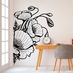 Cute college dorm decorations can be hard to find without spending your whole paycheck. Don't worry, here are 25 cute decor ideas for inspiration! Wall Art Designs, Wall Design, Design Design, Bedroom Designs, Design Hotel, House Design, Mural Art, Wall Murals, Wall Painting Decor