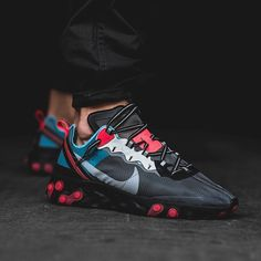 """c45ff526b15f5 Sneaker News on Instagram  """"The Nike React Element 87 is returning to  stores on October 11th. What do you think about this Blue Chill Solar Red  colorway"""