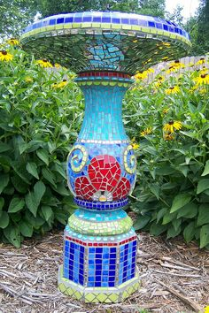 Birdbath Bling by Julie McKee, via Flickr