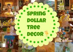 Dollar tree Spring table and accessories.