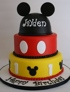 Mickey Mouse Cake by creative and delicious sweets (Sandy), via Flickr