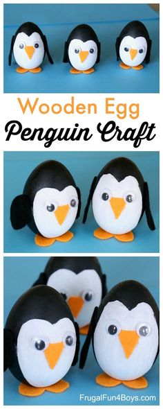 Adorable Penguin Craft for Kids - great project for winter