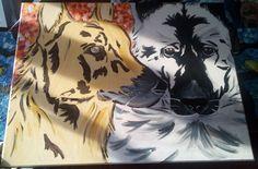 Lando und Jerry Lee, Acrylmalerei