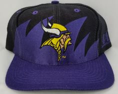 1a2f7151ac2 Minnesota Vikings Snapback Black Logo Athletic Sharktooth Vintage Hat NFL  Logo7 Nfl Caps