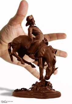 chocolate sculpture..... that's so pretty I don't want to eat it............But I really want to.