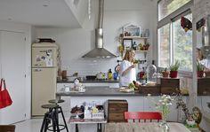 Kuchyně a oblast jídelny, otevřený plán.