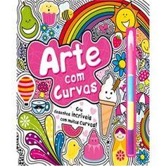 Livro - Livro para Colorir - Arte com Curvas