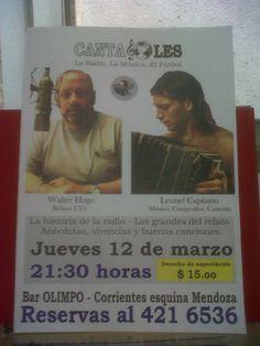 Profesional: cartel promocionando espectáculo CANTAGOLES