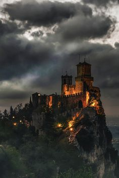 Fortress of Guaita, San Marino. Guaita is one of three peaks which overlooks the city of San Marino, the capital of San Marino. The Guaita fortress is the oldest of the three towers constructed on Monte Titano. It was built in the century. Beautiful Castles, Beautiful Buildings, Beautiful Places, Amazing Places, Beautiful Pictures, Beautiful Women, Places Around The World, The Places Youll Go, Places To See