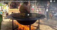 #HeyUnik  Biksu Thailand Ini Bermeditasi Di Dalam Wajan Berisi Minyak Mendidih #Video #YangUnikEmangAsyik