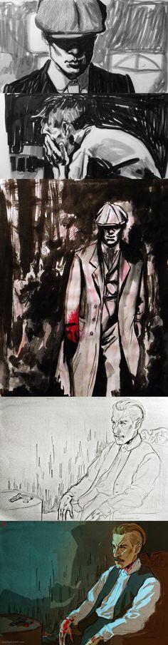 Peaky Blinders Sketchdump by 666solitaryman