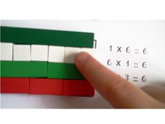 initiation multiplications cuisenaire- we had them in school as kids and I loved to work with them...