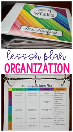 Don't waste hours on lesson plans. This post shares ways to organize and simplify your plans-no matter how long they have to be!