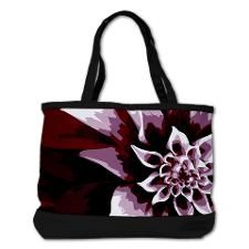 Deep Purple Flower Shoulder Bag. Click to see this design on other products.