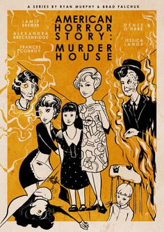 American Horror Story : Murder House (inspired posters) on Behance
