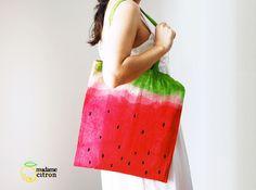 Una borsa estiva fai da te con i colori dell'anguria - Ispirando