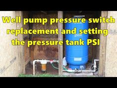 Well pump pressure switch replacement and re-pressurizing the pressure tank - YouTube Well Pump Pressure Switch, Well Pressure Tank, Well Tank, Big Box Store, Water Well, Household, Wellness, Pumps, Plumbing