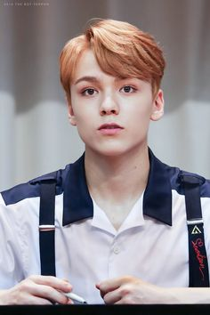 "Vernon looks so cute like, ""Yes can I help you?"""