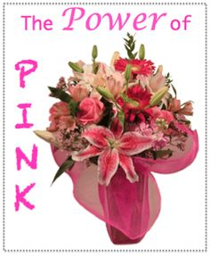 POWER OF PINK:  This gorgeous assortment of pink flowers such as Gerbera Daisies, Stock, Lilies, Roses and Alstroemeria is arranged in a glass vase and is wrapped in a pink mesh fabric. Matlack Florist will donate 20% of the retail price of each Power of Pink design to the local programs supporting the research, treatment and prevention of breast cancer.  #MatlackFlorist