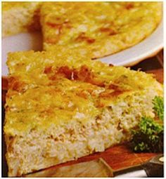 Savory Salmon (or Tuna) Impossible Pie. Mix everything together then bake, it forms it's own crust. Tuna Recipes, Quiche Recipes, Pie Recipes, Seafood Recipes, Cooking Recipes, Recipies, Braai Recipes, Microwave Recipes, Dinner Recipes