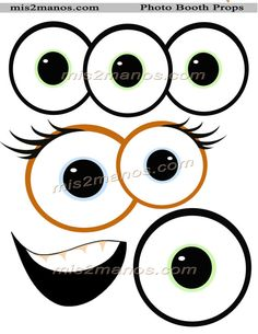 Monster Photo Booth Props SET of 10 Monster Instant Download