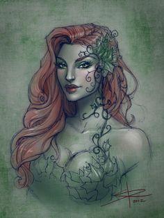 Poison Ivy sketch by Sabinerich.deviantart.com on @deviantART
