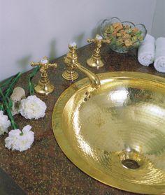 Nantucket Sinks Round Hammered Bathroom Sink