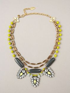 DELILAH TRIPLE STRAND GLASS BEAD & CRYSTAL STATEMENT NECKLACE// on sale for $105 at www.favery.com