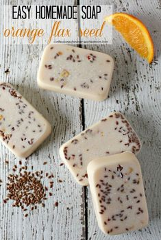 Years ago, before I started blogging, I had an online craft website and sold my crafts at farmer's markets and craft fairs. I enjoyed it for the most part but found that making large quantities of crafts all at once just wasn't something I enjoyed. I still love crafting and easy soap making was one of my favorite things to do. This orange flax seed soap is one of my favorites. #soapmaking #homemadesoap