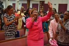 """Elder Anna Ellis during the 7am service """"Shifting With Purpose"""""""