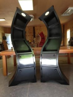 Handmade 6ft Curved Bookshelf mirrored pair by WoodCurve on Etsy, $1599.99